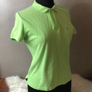 RALPH LAUREN The Skinny Polo Lime Shirt